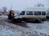 В Волгограде в ДТП с маршруткой пострадали пассажиры