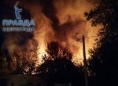 В Волгограде сгорело здание заброшенной воинской части